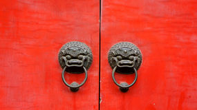 Traditioneller Chinese-Tür Stockfotos