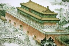Traditioneller chinesischer Anstrich Lizenzfreie Stockfotos