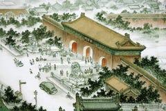 Traditioneller chinesischer Anstrich Stockfotos