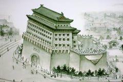 Traditioneller chinesischer Anstrich Stockfotografie