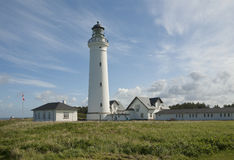 Traditioneller dänischer Leuchtturm Stockfotografie