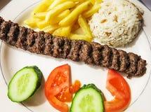 Traditioneller das Türkische-Adana-Kebab Lizenzfreie Stockbilder