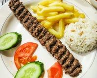 Traditioneller das Türkische-Adana-Kebab Lizenzfreies Stockfoto