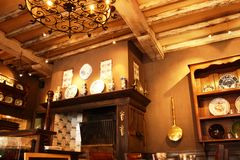 Traditioneller dinning Raum Stockbild