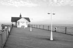 Traditioneller englischer Pier Stockbild