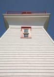 Traditioneller hölzerner Leuchtturm auf Prinzen Edward Island in Kanada stockfoto