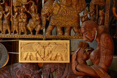 Traditioneller handgefertigter Warenshop Sri Lankan Stockbilder