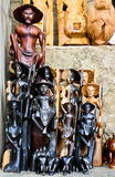Traditioneller handgefertigter Warenshop Sri Lankan Stockfoto