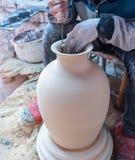 Traditioneller handgemachter Porzellanprozeß Lizenzfreies Stockbild