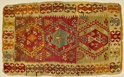 Traditioneller handgemachter türkischer Teppich Stockbild