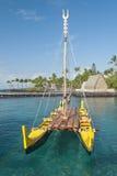Traditioneller hawaiischer Ausleger Lizenzfreies Stockfoto