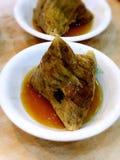 Traditioneller Hokkien-Fleisch-Reis-Mehlkloß Stockbild