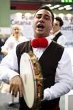 Traditioneller italienischer Sänger an BIT 2012 Lizenzfreie Stockfotografie
