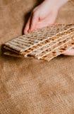 Traditioneller jüdischer Feiertag Pesach Traditionelle jüdische festliche FO stockbilder