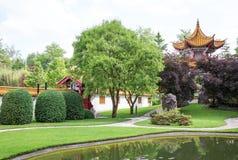 Traditioneller japanischer Garten Stockbild
