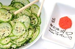 Traditioneller japanischer Salat Stockfotografie