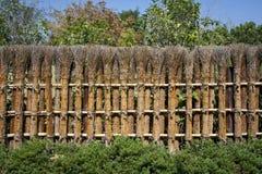 Traditioneller japanischer Zaun. Stockfotografie