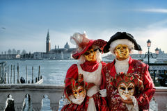 Traditioneller Karneval in Venedig, Italien. Lizenzfreie Stockfotos
