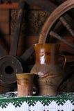 Traditioneller Krug Wein Stockbild