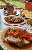 Traditioneller Lebensmittelteller Transylvanian Lizenzfreies Stockfoto