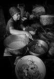 Traditioneller Lebensmittelverkäufer lizenzfreie stockbilder