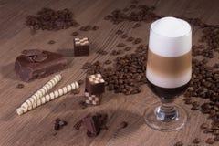 Traditioneller Machiato-Kaffee Stockbild