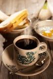 Traditioneller malaysischer Hainan-Kaffee und -frühstück Stockbild
