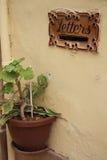 Traditioneller maltesischer Buchstabekasten Stockbild