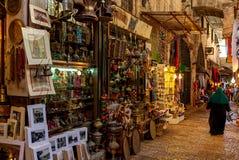 Traditioneller Markt in der alten Stadt von Jerusalem Stockfotografie