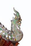 Traditioneller Naga Thailands geformt lokalisiert auf Weiß stockfoto