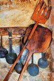 Traditioneller Ofen und kochende Geräte Stockfotos