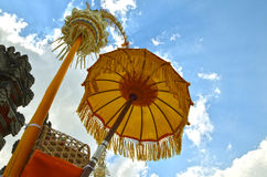 Traditioneller Regenschirm Indonesiens Bali Lizenzfreie Stockfotografie