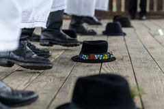 Traditioneller rumänischer Tanz Stockfoto