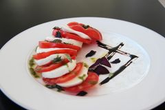 Traditioneller Salat Caprese Lizenzfreie Stockbilder