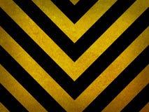 Traditioneller schwarzer und gelber warnender Hintergrund Stockbilder