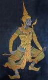 Traditioneller siamesischer Kunstanstrich in Wat Phra Kaew Lizenzfreies Stockbild