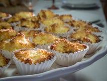 Traditioneller siamesischer Nachtisch gebildet von der Kokosnuss Lizenzfreies Stockbild