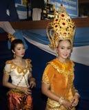 Traditioneller siamesischer Tänzer lizenzfreies stockfoto