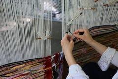 Traditioneller spinnender Webstuhl Stockbild