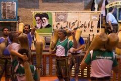 Traditioneller Sport (Zurkhaneh) in Yazd, der Iran Lizenzfreie Stockfotos
