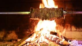Traditioneller türkischer Kebab auf Grillgrill stock video footage