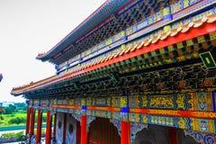Traditioneller Tempel der chinesischen Art bei Wat Leng-Noei-Yi in Nonthab Stockfotografie