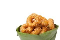 Traditioneller thailändischer Donut Stockfoto