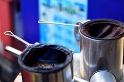 Traditioneller thailändischer Gefrierenkaffee Lizenzfreies Stockfoto