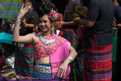 Traditioneller thailändischer Tanz in der Thailand-Affe-Partei Lizenzfreies Stockfoto