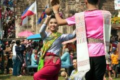 Traditioneller thailändischer Tanz in der Thailand-Affe-Partei Lizenzfreie Stockfotografie