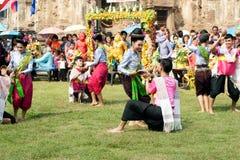 Traditioneller thailändischer Tanz in der Thailand-Affe-Partei Lizenzfreie Stockfotos