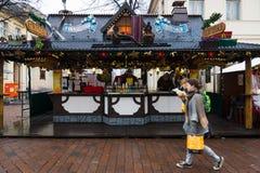 Traditioneller Weihnachtsmarkt in der alten Stadt von Potsdam. Stockfoto