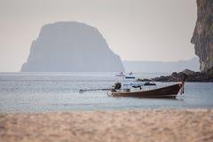 Traditioneller Wettbewerb des langschwänzigen Bootes Stockfotos