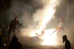 Traditionelles ³ Feiern Sant Pere de Torellà Stockbild